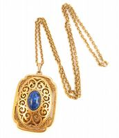 Vintage Large ' YesterYear ' 1970's Locket And Necklace By Avon.
